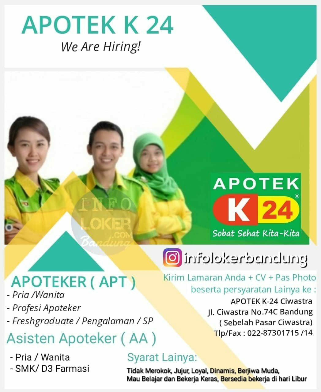 Lowongan Kerja Apotek K24 Ciwastra Bandung Mei 2019