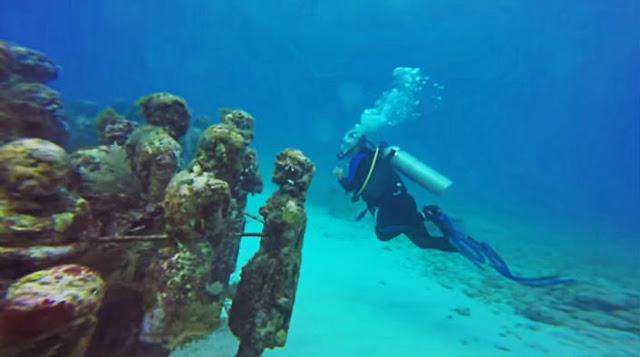 Paseo bajo el agua