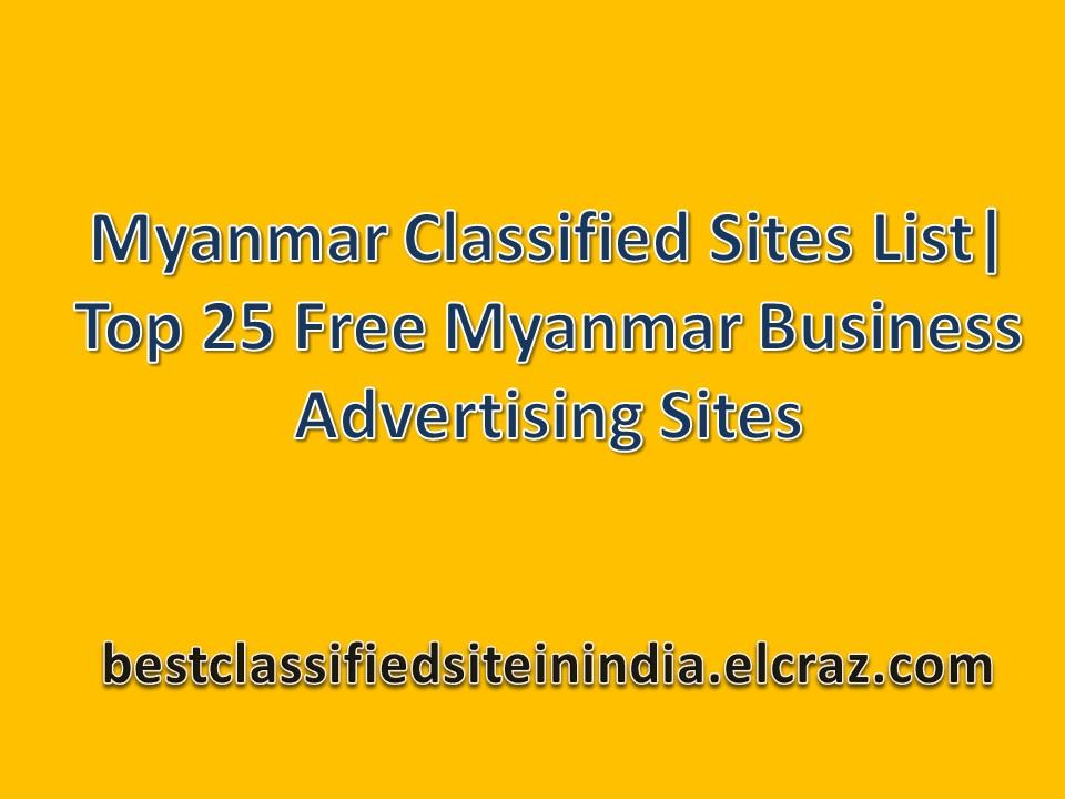 25 Best Myanmar Clified Sites List 2018