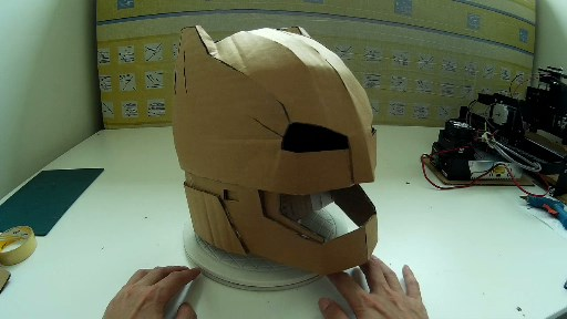 Dali lomo how to make armored batman aka mech suit helmet diy for Cardboard armour template