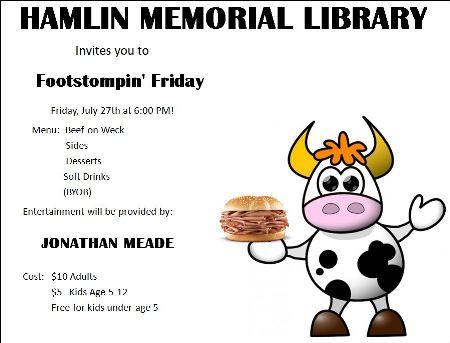7-27 Hamlin Memorial Library Footstompin Friday