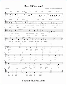 chord dear old southland lagu jazz standar