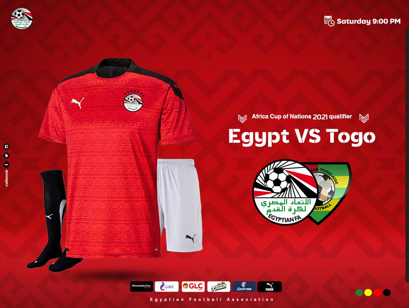بث مباشر مباراة مصر وتوجو