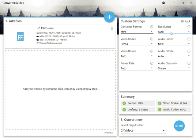 Screenshot Abelssoft Converter4Video 2020 v6.4 Build 44 Full Version