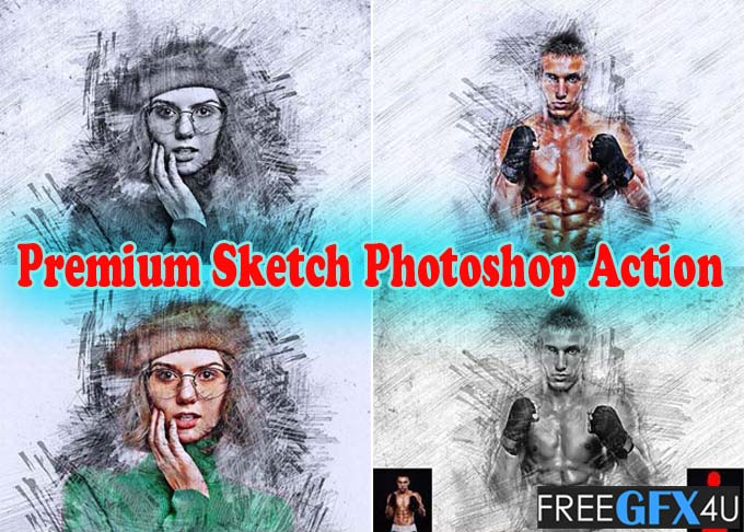 Premium Sketch Photoshop Action Free Download