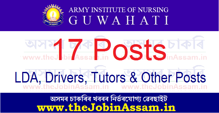 Army Institute of Nursing, Guwahati Recruitment 2021: