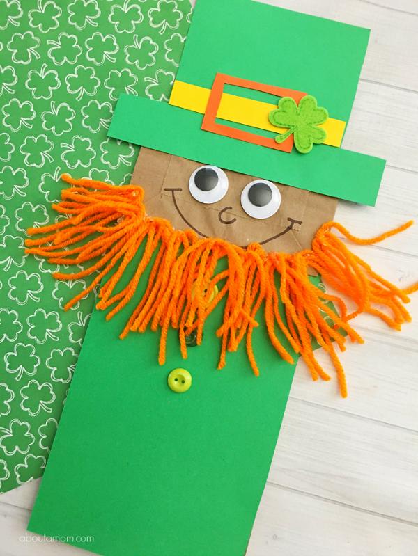 paper bag leprechaun