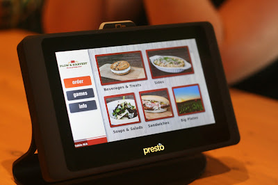 Tablets for ordering at P&H.