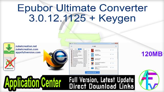 Epubor Ultimate Converter 3.0.12.1125 + Keygen