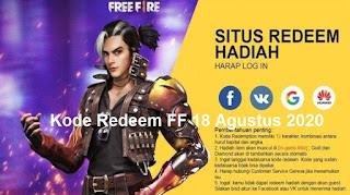 Kode Redeem FF 18 Agustus 2020