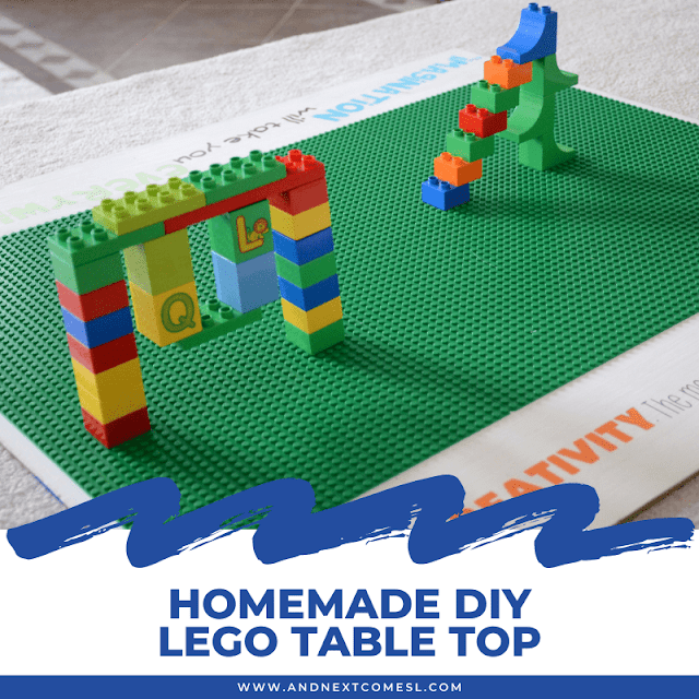 DIY LEGO table top tutorial