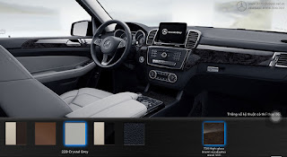 Nội thất Mercedes GLS 350d 4MATIC 2019 màu Xám Crystal 228