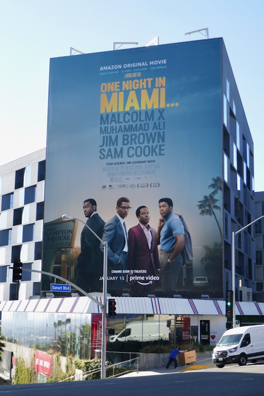 Giant One Night in Miami movie billboard