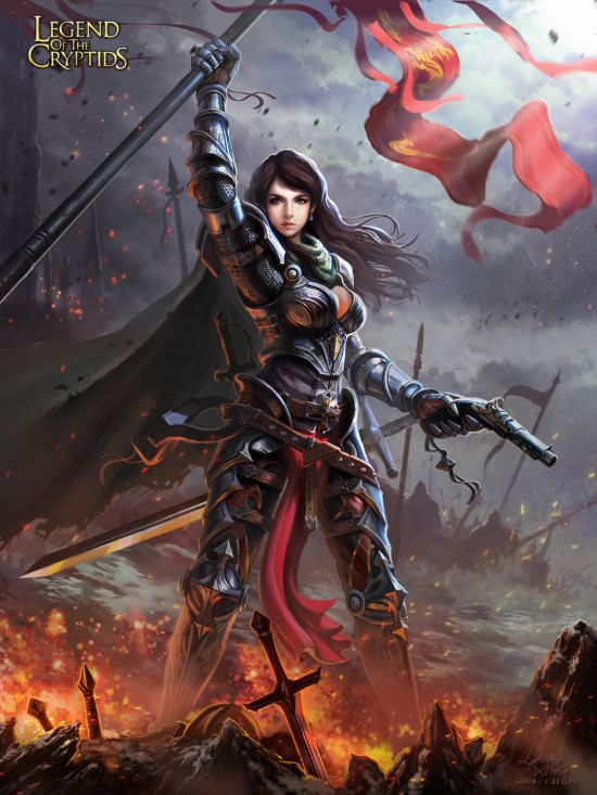 Liang Xing ilustrações fantasia games Legends of the Cryptids