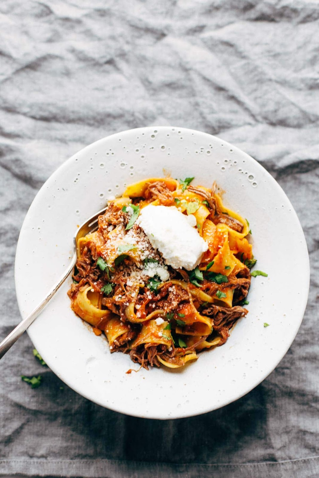 Slow cooker beef ragu with pappardelle #slowcooker #beef #comfortfood