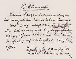 Teks Proklamasi Kemerdekaan Indonesia yang Otentik & Asli