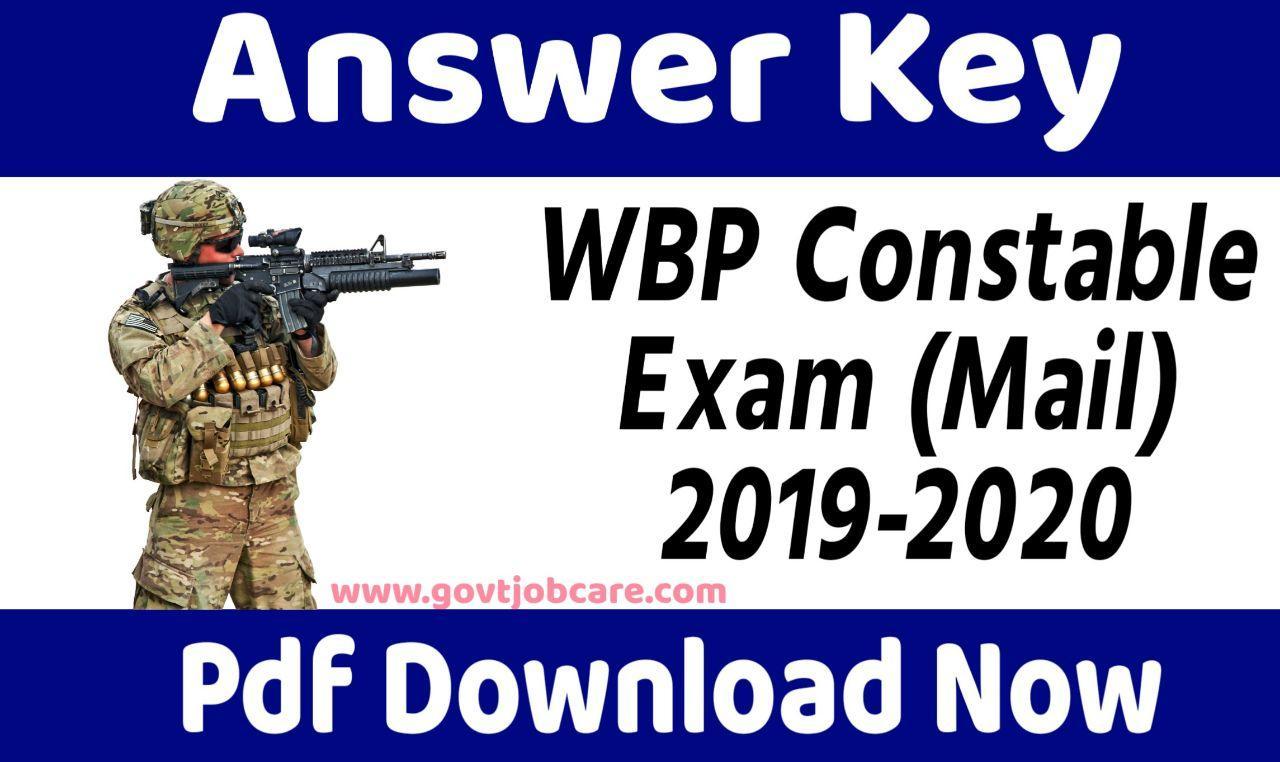 Wbp Mains Answer Key