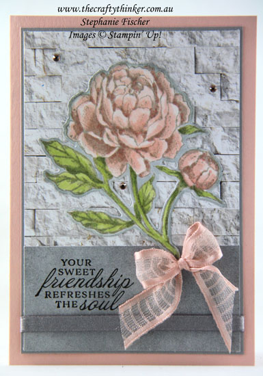 #thecraftythinker #stampinup #SDBH #prizedpeonybundle #ingoodtastedsp #cardmaking , Prized Peony Bundle, In Good Taste DSP, Stampin Dreams Blog Hop, SDBH, Stampin' Up Demonstrator, Stephanie Fischer, Sydney NSW