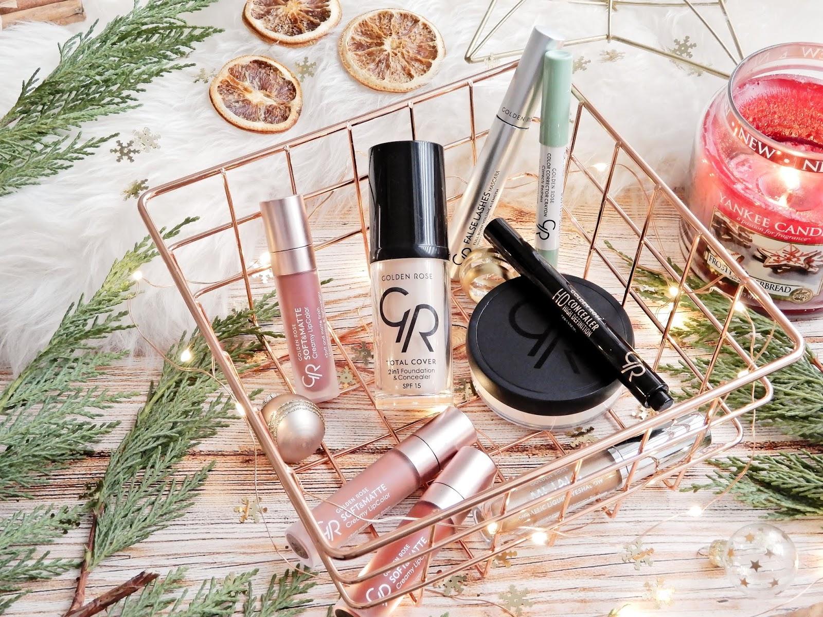 Świąteczny makijaż z Golden Rose ❄