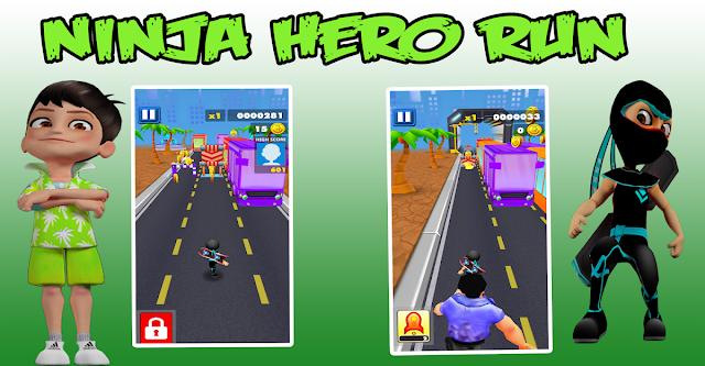 """لعبة """" Ninja hero run SJ """" الممتعة الان على جوجل بلاي"""