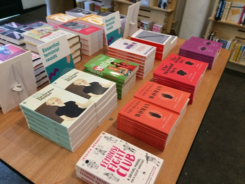 Photo of Essential Feminist Reads table display
