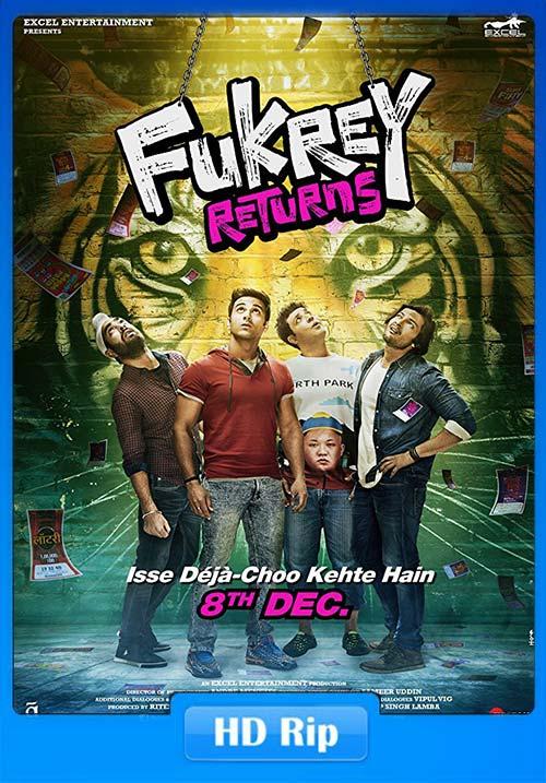 Fukrey Returns 2017 Hindi 720p DTHRip | 400MB 480p | 200MB HEVC Poster
