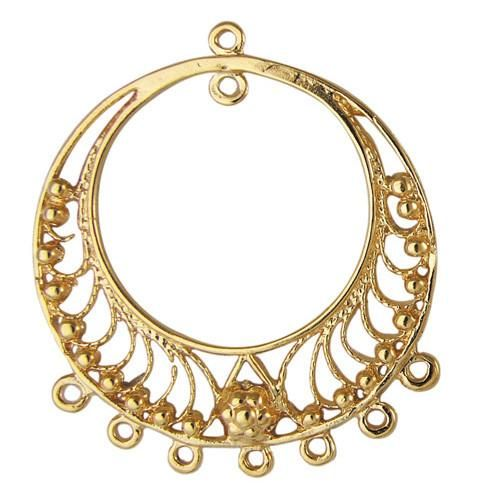 Gold Chandelier Component, 36mm x 32mm