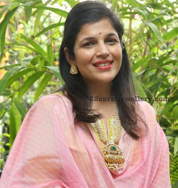 Kavitha Paudwal Pearls Long Chain