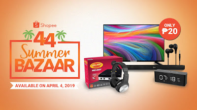 ₱20 Deals for HD TV, Soundbar, Noise Cancelling Headsets, and many more at the Shopee 4.4 Summer Bazaar