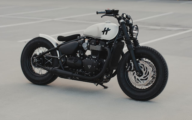 Triumph Bobber Black By Hookie Co. Hell Kustom