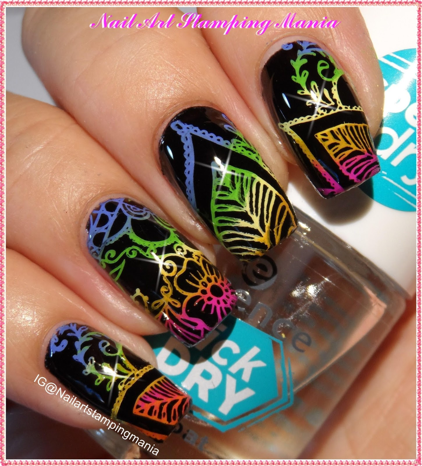 Nail Art Stamping Mania: UberChic Beauty Mandala Love - Uber Mini ...