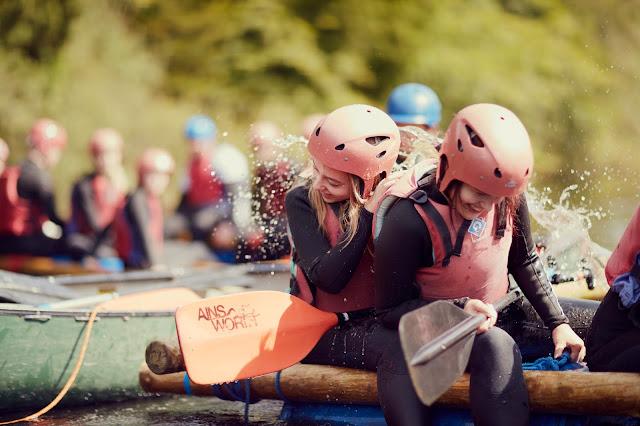 teens kayaking