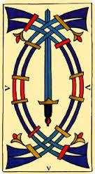 Tarot de Marsella: Cinco de Espadas