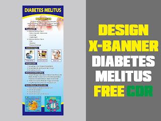 Design X-Banner DIABETES MELITUS Free CDR Format