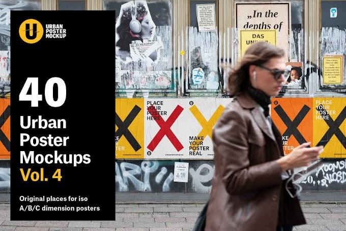 40 Urban Poster Mockup VOL.4