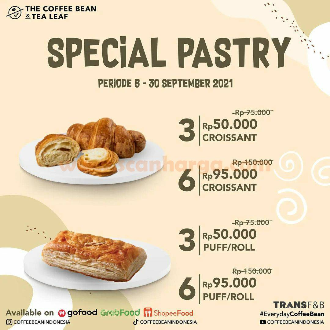 The Coffee Bean Promo Special Pastry harga mulai Rp. 50.000