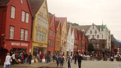 Imagen de casas tradicionales de Bergen