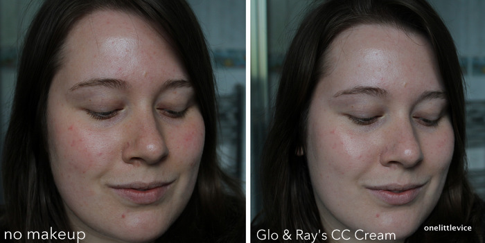one little vice beauty blog: glo and ray cc cream swatch