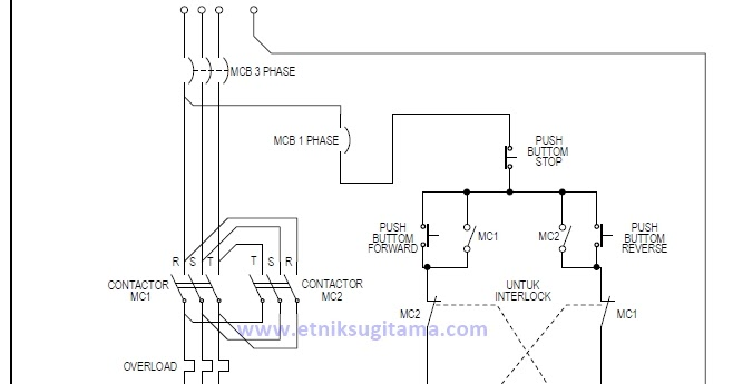Etnik Sugitama  Gambar Diagram Rangkaian Motor 3 Phase