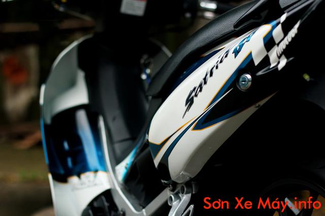 Suzuki Satria sơn tem đấu