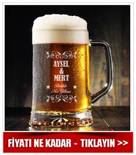 İsimli Bira Bardağı