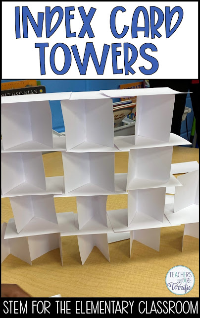 STEM Challenge: Build a tower! How can you use the cards inventively to make the tower work?