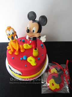 bolo e bolachas aniversário mickey mouse disney