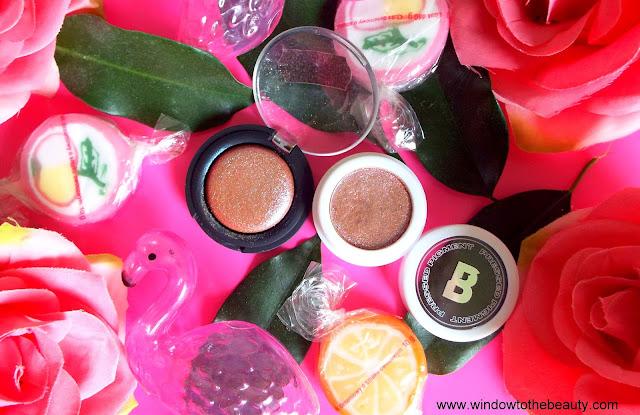 Beauty Bay Pressed Pigment vs Top Shop CHAMELEON EYESHADOW