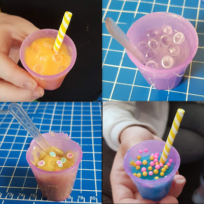 So Slime Factory DIY Example ice cream mixture slime in little cup