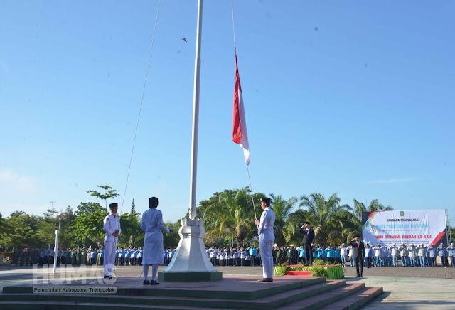 Pemkab Trenggalek Gelar Upacara Peringatan Hari Otonomi Daerah ke-XXIII dan Hari Pendidikan Nasional 2019