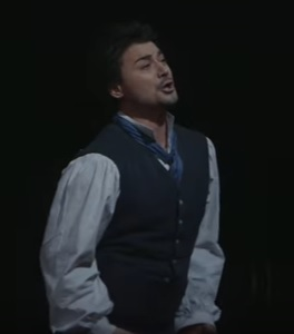 Grigolo performs in the role of Nemorino in  Gaetano Donizetti's L'elisir d'amore
