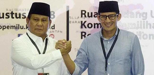 Prabowo-Sandi Unggul di Real Count KPU Wilayah Bekasi, Depok, dan Tangerang