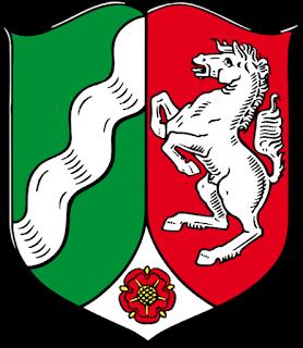 Bandera oficial de Renania del Norte-Westfalia