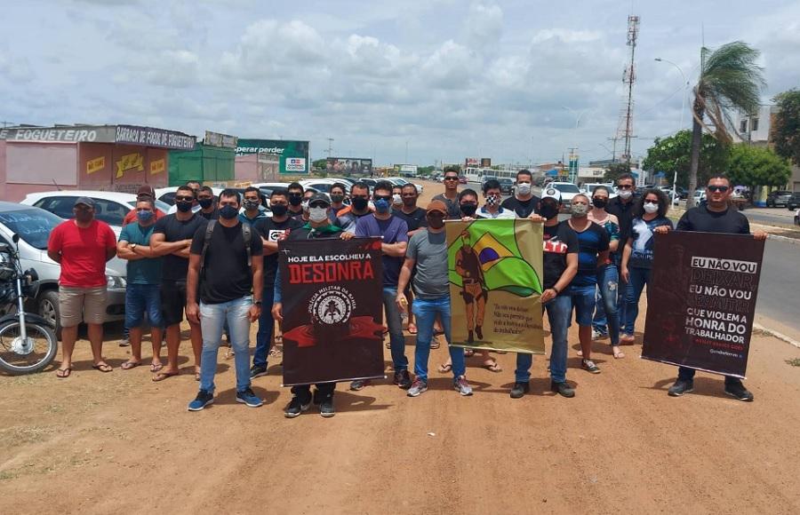 Grupos de policiais em Juazeiro realizam protesto contra morte de PM em Salvador (BA) - Portal Spy Notícias de Juazeiro e Petrolina
